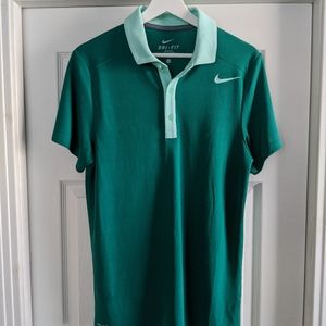 Green Nike Dri-fit polo